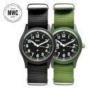 ドイツ製 MWC ミリタリーウォッチ(MIL/1966)ブラック メンズ腕時計 ミリタリー腕時計