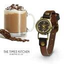タイムズキッチン モカ レディース 腕時計 レザーブレス 日...