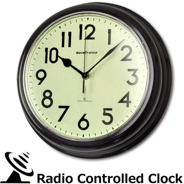 壁掛け時計 電波時計 エアリアルレトロ アンティー …