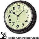 電波 ウォール クロック レトロ & アンティーク デザイナーズクロック WAVE TRANCE 壁掛け時計 おしゃれ 電波時計 ナチュラル 掛け時計 インテリア 時計 壁掛け 【あす楽対応】【ラッピング不可】