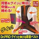 柔道整復師 と 共同開発 した『Dr.PRO グイッと伸びる背筋ベルト』
