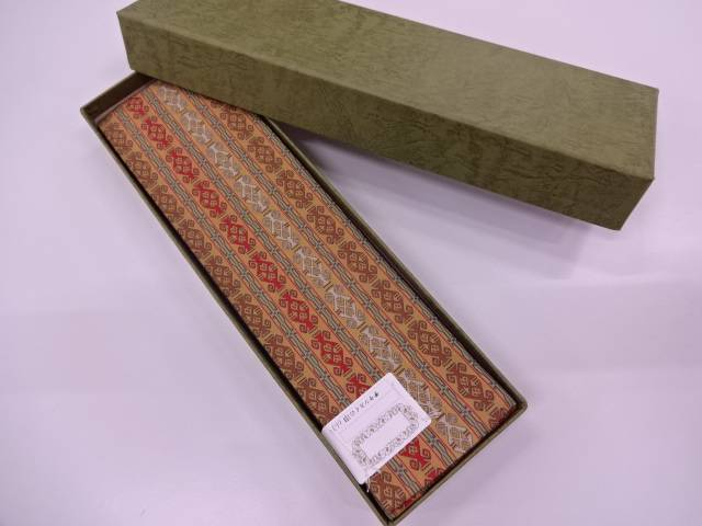 【IDN】 龍村美術織物製 チャンカイの申男物角帯【q新品】【着】