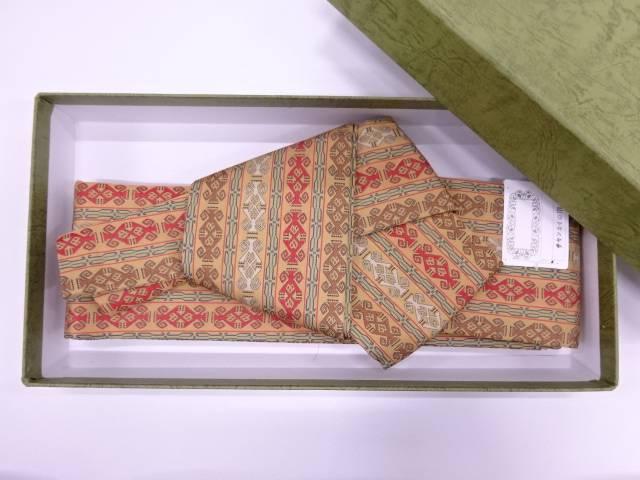 【IDN】 龍村美術織物製 チャンカイの申男物くるぴた角帯【q新品】【着】