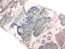 【IDN】 宝船に松・花鳥模様織出し丸帯【大正ロマン】【中古】【着】