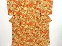Kimono - 【IDN】 未使用品 色紙に古典柄・花模様小紋着物【リサイクル】【着】