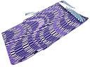 【IDN】 レトロモダン CANOA よろけ縞模様男物浴衣(LLサイズ)(紫)【新品】【着】