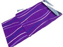 【IDN】 レトロモダン CANOA 立涌模様男物浴衣(LLサイズ)(紫)【新品】【着】