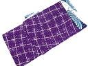 【IDN】 CANOA 麻の葉模様男物浴衣(Lサイズ)(紫)【新品】【着】