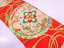 ショッピングアンティーク 【IDN】 檜扇に花模様織出し袋帯【リサイクル】【中古】【着】