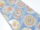 【IDnet】 金銀糸几帳に花鳥模様織り出し袋帯【リサイクル】【中古】【着】