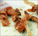 七面鳥アキレスに鶏ささみを巻き、硬めに仕上げました。自然な仕上がりが自慢です。mofmofDeli/ぐるぐるチキンと七面鳥