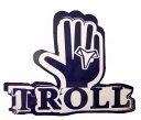 【ポイント20倍】TROLL T-HANDステッカー ステッカー シール スノーボードステッカー ロゴ 手 ハンド ネイビー 紺 こん ブルー 青 あお..