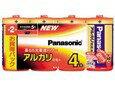パナソニック アルカリ乾電池 単2形 1パック4本入