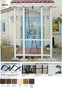 タカショー ポーチテラス カフェスタイル FIX 2間×4尺 ナチュラルパイン 前面ガラス屋根マット