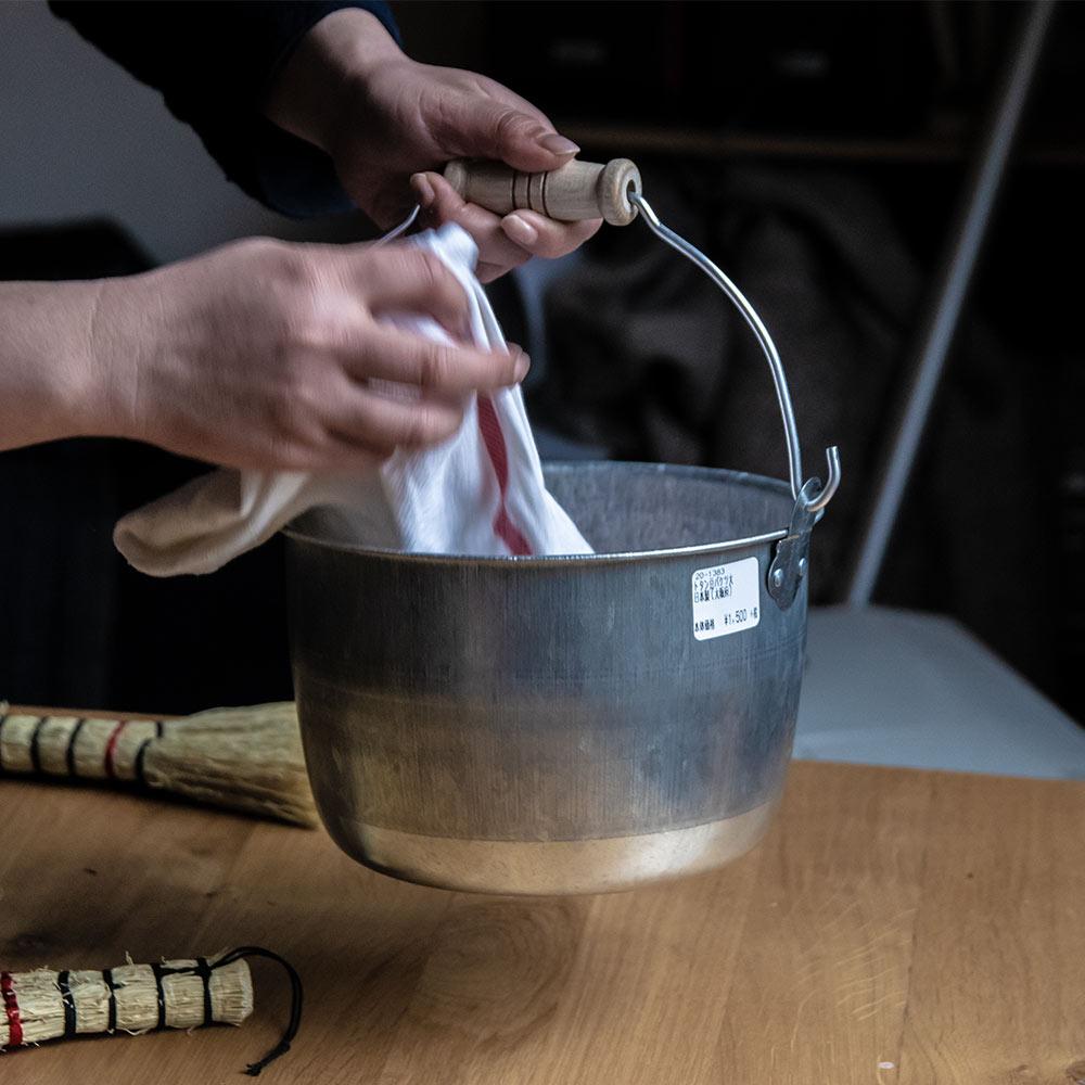 トタン豆バケツ 大 松野屋 日本製 道具 3.6L アウトドア