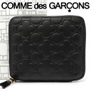 コムデギャルソン 二つ折り財布 COMME des GARCONS コンパクト財布 レディース メンズ ブラック SA210EB EMBOSSED BLACK 【あす楽】【送料無料】【着後レビューを書いて500円クーポン】