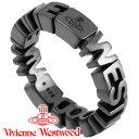 ヴィヴィアンウエストウッド リング 指輪 メンズ レディース Vivienne Westwood ヴィヴィアン ノッティンガムリング ガンメタル 64040023-SW001 【あす楽】【送料無料】