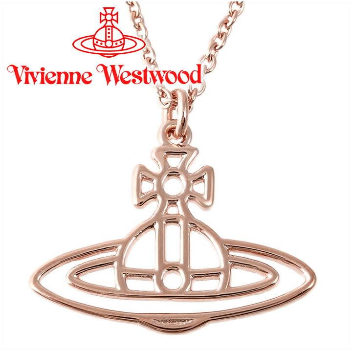 ヴィヴィアンウエストウッド ネックレス Vivienne Westwood ヴィヴィアン シンラインショートフラットオーブペンダント ピンクゴールド BP1284/4 【お取り寄せ】【送料無料】