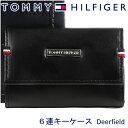 トミーヒルフィガー 6連キーケース TOMMY HILFIGER キーホルダー メンズ ブラック 31TL17X011 BLACK 【お取り寄せ】