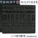 トミーヒルフィガー 二つ折り財布 TOMMY HILFIGER 財布 ブラック 31TL25X022 BLACK 【あす楽】【送料無料】