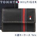 トミーヒルフィガー 6連キーケース TOMMY HILFIGER キーホルダー メンズ ブラック 31TL17X006 BLACK 【あす楽】