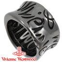 ヴィヴィアンウエストウッド リング 指輪 メンズ レディース Vivienne Westwood ヴィヴィアン ブリストルリング ガンメタル SR1732/8 【あす楽】【送料無料】