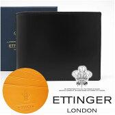 エッティンガー 財布 ETTINGER 二つ折り財布 メンズ ブラック 141JR BLACK 【お取り寄せ】