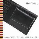 ポールスミス 財布 Paul Smith 二つ折り財布 メンズ ブラック ANXA/1033/W728 B 【父の日ギフト】