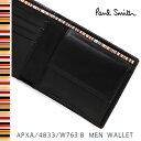 ポールスミス 財布 Paul Smith 二つ折り財布 メンズ ブラック APXA/4833/W763 B 【送料無料】 【父の日ギフト】