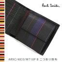 ポールスミス 財布 Paul Smith 二つ折り財布 メンズ ブラック ミニクーパー ARXC/4833/W718P B 【送料無料】【02P03Dec16】
