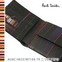ポールスミス 財布 Paul Smith 二つ折り財布 メンズ ブラック ミニクーパー AUXC/4833/W718A 79 【並行輸入品】