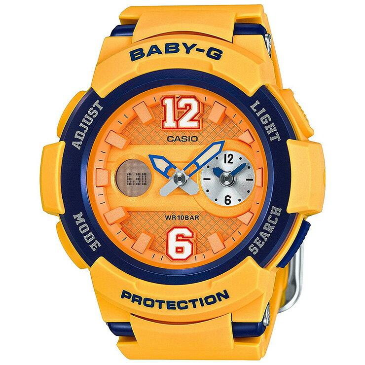 BABY-G カシオ ベビーG BGA-210-4BJF CASIO ストリート・ユニフォーム・スタイル ワールドタイム オレンジ×ブルー レディス 腕時計 【正規品/送料無料】【BA110】【レビューで3年保証】【あす楽】【在庫あり】