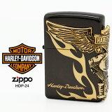 Zippo ハーレー ダビッドソン ジッポー ZIPPO Harley-Davidson HDP-24 ブラックイオン ゴールド ライター 【在庫あり】【あす楽】【02P03Dec16】【RCP】
