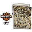 ショッピングハーレーダビッドソン Zippo ハーレー ダビッドソン ジッポー ZIPPO Harley-Davidson HDP-27 シルバー アンティークゴールド ライター 【在庫あり】【あす楽】【02P26Mar16】 【RCP】