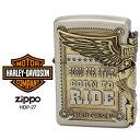 Zippo ハーレー ダビッドソン ジッポー ZIPPO Harley-Davidson HDP-27 シルバー アンティークゴールド ライター 【在庫あり】【あす楽】【RCP】