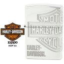 【Harley Davidson ハーレー ダビッドソン】 Zippo ハーレー ダビッドソン ジッポー ZIPPO Harley-Davidson HDP-33 シルバーイブシ 4面加工 ライター 【お取り寄せ】【02P26Mar16】【RCP】