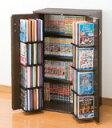 日本製 AV収納ラック CD/DVD収納ラック4段 カギ付,家具調AV収納ラック CD DVD収納スリムラック,CD324枚 DVD236枚 ビデオ128本 コミック236冊収納可能