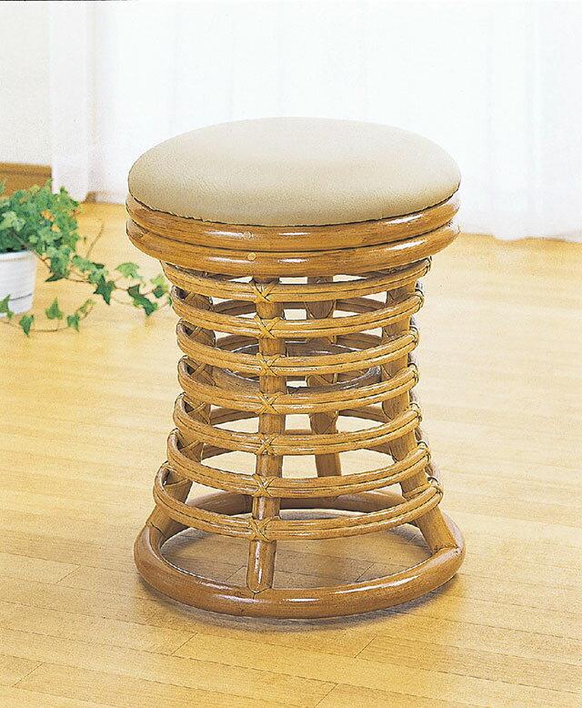 スツール【籐製/ラタン】脱衣所 椅子ラタン 椅子 籐 スツール 【完成品】【送料無料】
