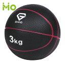 GronG(グロング) メディシンボール 3kg 非バウンドタイプ トレーニングマニュアル付き