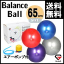 GronG バランスボール ヨガボール エクササイズボール 65cm アンチバースト 耐荷重250kg 空気入れ フットポンプ付き