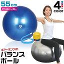 GronG バランスボール ヨガボール 55cm アンチバースト 椅子 耐荷重250kg フットポンプ付き