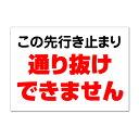 【注意・危険・通学路/看板】 行き止まり 通り抜け不可 車両進入禁止 できません 長期利用可能 01 (B2サイズ/515×728ミリ) 05P19Dec15