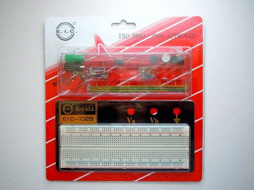 電気工事士技能試験対策品・半導体・工具・事務用品│E-CALL ENTERPRISE〓ブレッドボード EIC-102BJ 〓165-41-4-102B