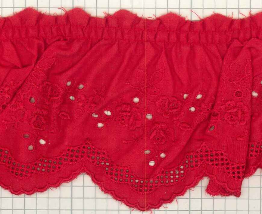 フリルレース 色 T50390 (巾約8.2cm)