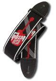 """Gibson Gibson Woven Style 2"""" Strap w/ Gibson Logo - Red [ASGG-600]"""