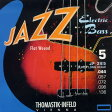 Thomastik-Infeld Electric Bass Strings JF365 [Nickel Flat Wound Roundcore Bass Strings for Super Long Scale 36 inch 5-strings]