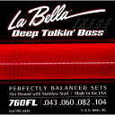 """LaBella 760FL """"Flat Wound Stainless Steel Bass Strings"""""""