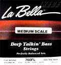 """LaBella 760FL MEDIUM SCALE """"Flat Wound Stainless Steel Bass Strings"""""""