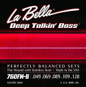 "LaBella 760FM-B ""Flat Wound Stainless Steel Bass Strings"""