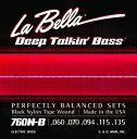 "LaBella 760N-B ""BLACK NYLON TAPE WOUND Bass Strings"""